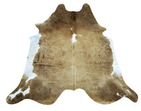 Chocolate Cowhide Rug 6.6ft x 6.1ft