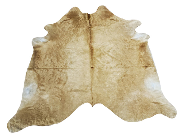 Cowhide Rug Champagne Beige 80 X 72 Inches