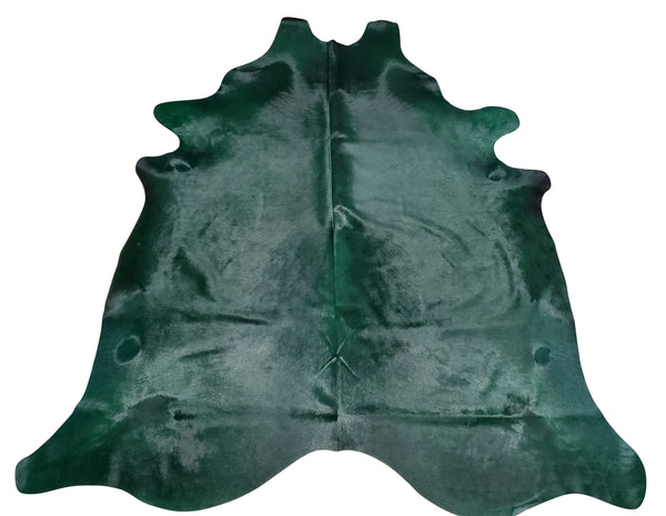 Large Dyed Green Cowhide Rug
