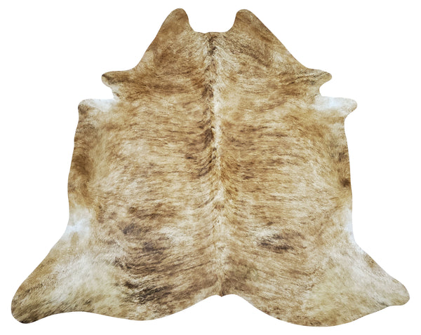 Exotic Tan Cowhide Rug 6.9ft x 6ft