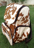 Cowhide Mommy Bag diaper backapack