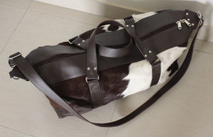 cow hair duffle bag