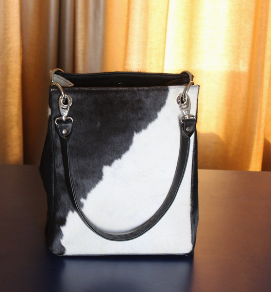 Black And White Cowhide Bag