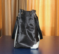 real cowhide ladies bag