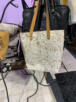 Metallic Cowhide Bag