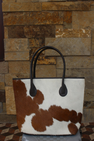 Custom Cowhide Diaper Bag