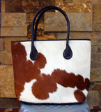Pony hair school bag for ladies