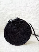 round rattan basket bag