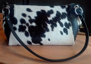 Cowhide Bag Western Style Black And White.