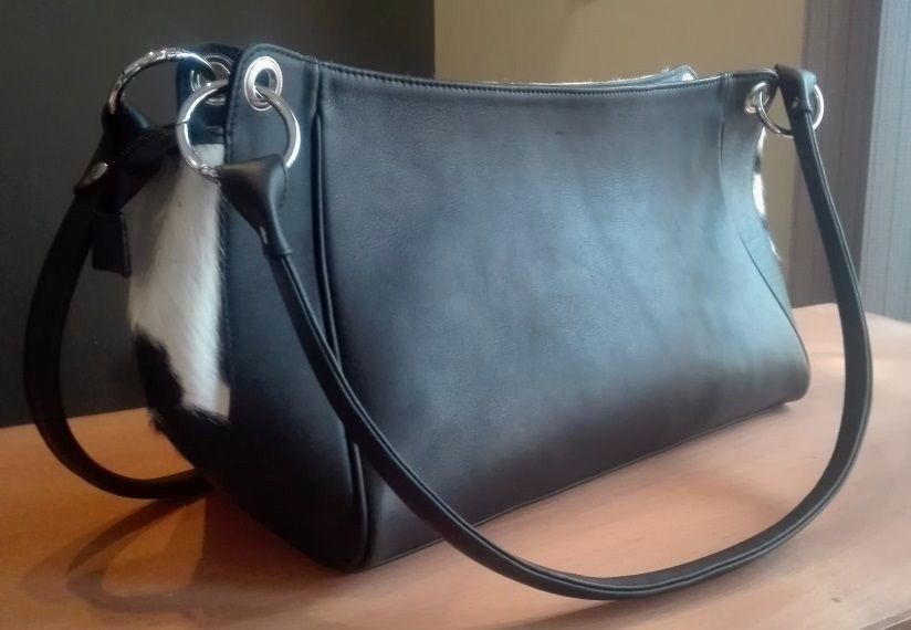 Cowhide Bag Western Style Black And White in 2019