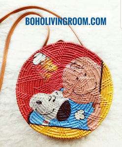 Printed Rattan Bag Disney