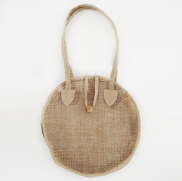 Round Natural Tote