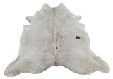Grey Speckled Cowhide Rug Brazilian 85 by 75 inches 1937
