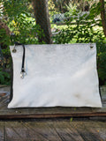 White Cowhide Bag from real and genuine