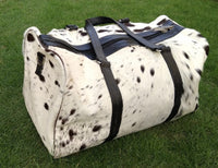 cow skin luggage set bag