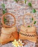 round rattan bag street level boho style for beach
