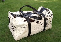 cow skin duffle bag