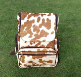 cowhide diaper backpack
