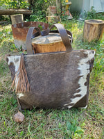 cowhide messenger bag