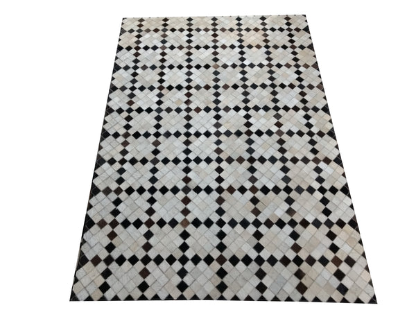 cowhide patchwork runner