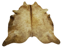 large champagne cowhide rug Brazilian 84 X 75 Inches
