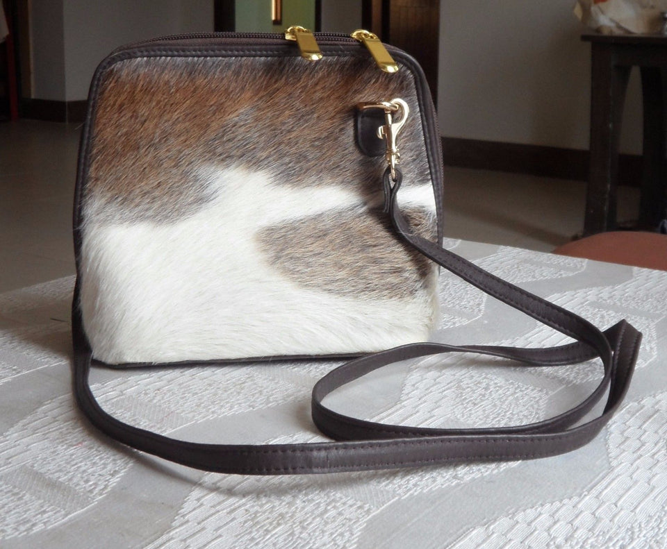 Hair On Cowhide Sling Purse