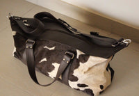 Black And White Cowhide weekender bag