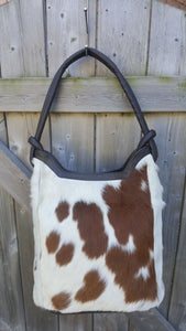 Cowhide Bucket Bag Real Hair On
