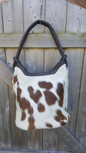 Cowhide Bucket Purse for ladies bags