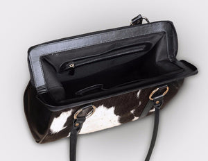 real cowhide clutch purse