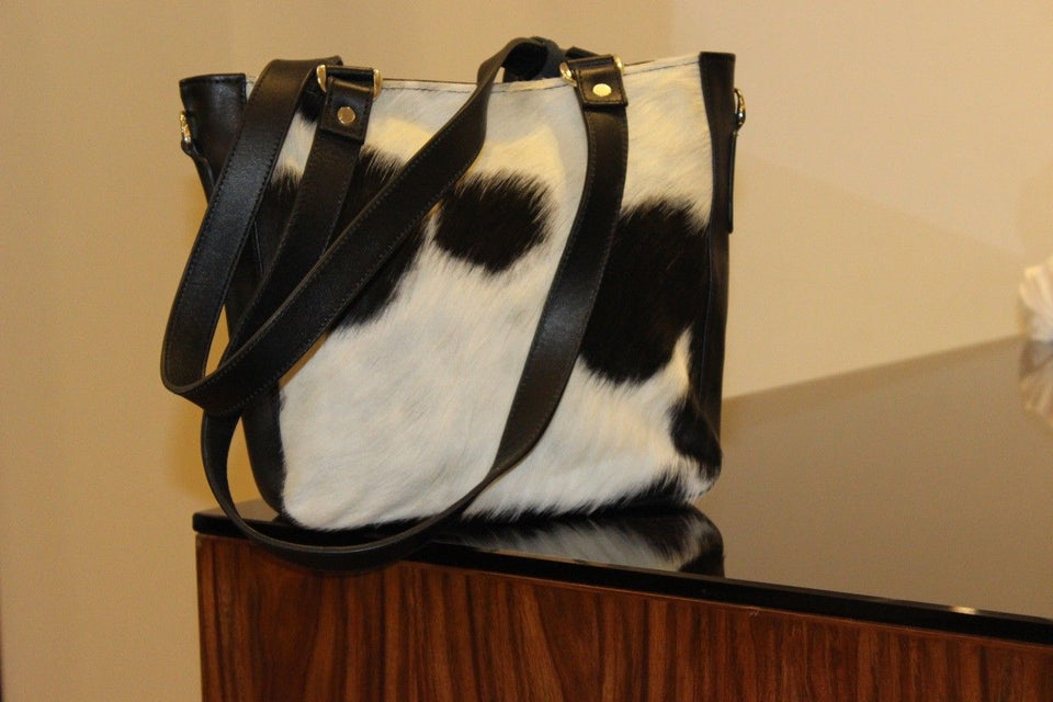 cowhide laptop messenger Bag