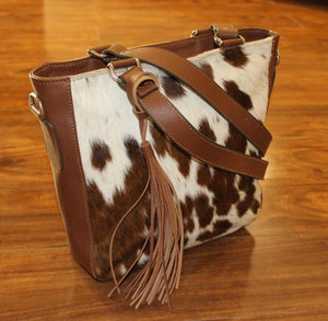 Cowhide Crossbody bag Shoulder Handbag Satchel Purse