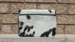 Cowhide Leather Clutch Purse Large Envelope Ladies Wallet Organizer Wrist Purse