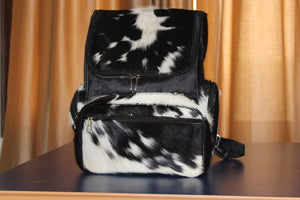 cowhide backpack diaper bag