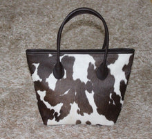 hair on cowhide bag made for real and natural hide