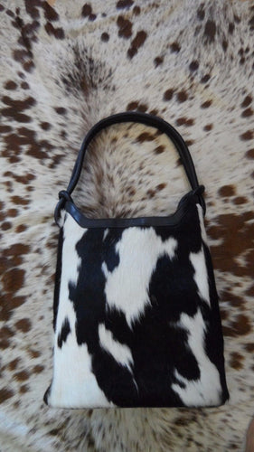 black and white cowhide leather handbags