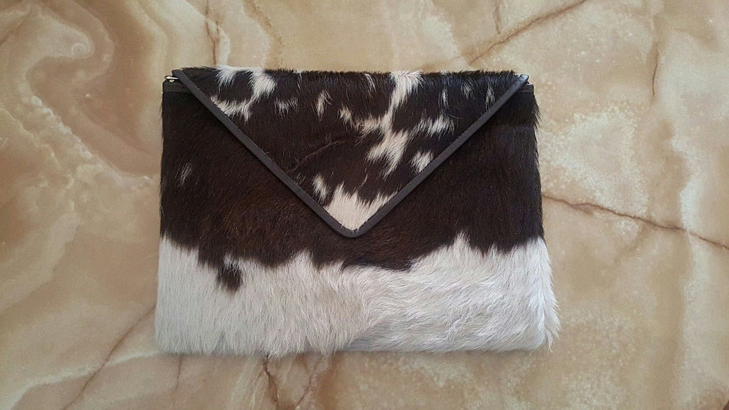 Cowhide Clutch Purse