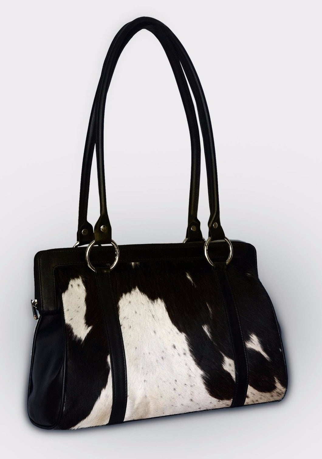 Black And White Cowhide Purse