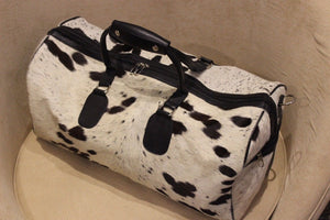 Genuine Cowhide Leather Travel Large Capacity Luggage Tote Duffle Gym Bags