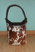 Cowhide Fur Bag Brown And White
