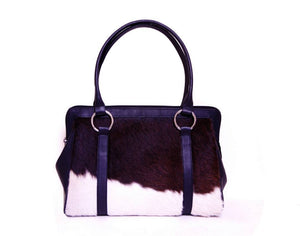 handmade cowhide tote messenger bag