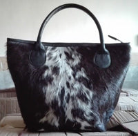 Hair On Cowhide Shoulder Bag