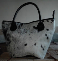 Cowhide Leather Tote Bag Ladies Shoulder Purse Cow Hide Women Tote Handbags