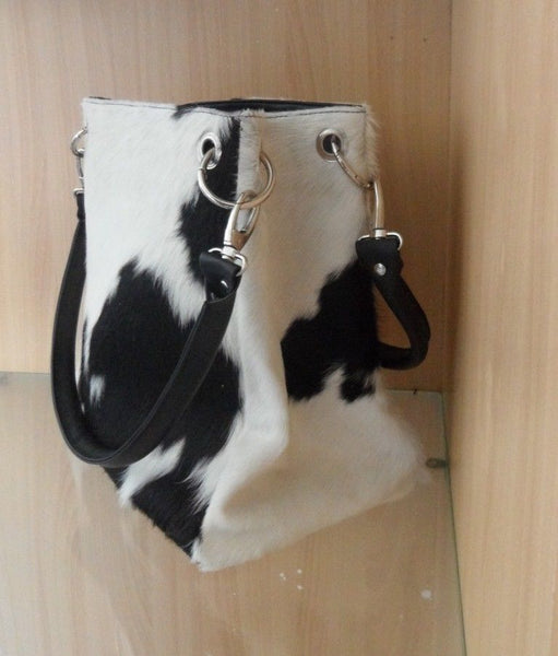 Cowhide Bag Black And White