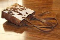 Cowhide Leather Bag Crossbody Messenger Shoulder Handbag Satchel Purse