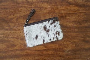 Handmade Ladies Wallet Clutch Purse Cowhide Clutches With Tassel