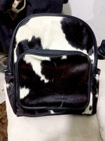 Western Cowhide Bag White Black Brown.