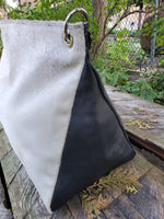 white calf hair bag