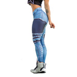 3D Jeans Print Sporting Leggings