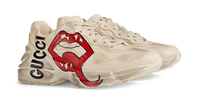 Gucci rhyton sneaker with mouth print sneakers – X